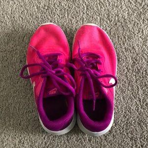 Girls Size 1 Pink Nike Sneakers